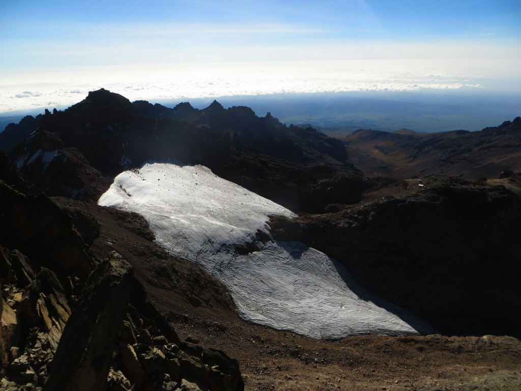 Lewis Glacier in January 2014